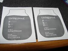 2 LIVING PROOF 5 in 1 Styling TREATMENT .33 oz Sample Packets