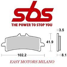 COPPIA PASTIGLIE SBS 841 DS MV AGUSTA 675 F3 ORO (F310ABCV) 2012-2013