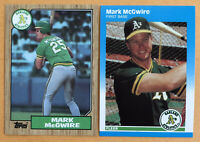 Lot Of 2 1987 Mark Mcgwire Rookies! Topps #366 And Fleer Update #U-76🔥mint! FS