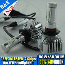 Canbus CREE 9006 HB4 80W 8000LM LED Headlight Conversion Kit White Replace HID