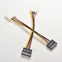 2X 4-Pin IDE Molex to 15-Pin Serial ATA SATA Hard Drive Power Adapter Cable 3Z