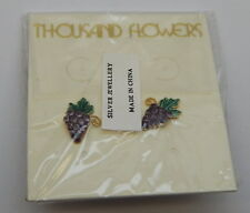 Thousand Flowers Earrings Grapes R15528
