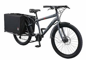 Mongoose Envoy Cargo Bike with 26-Inch Wheels in Grey Choose Frame Size