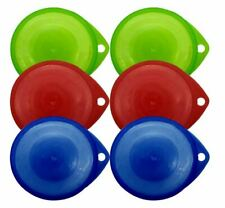 3 X Red Green Blue Can Tin Pet Food Cover Caps Standard Fitting Reusable Fresh