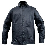 Men Black Leather Shirt Long Full Sleeves Beautiful Casual S to 6XL Custom Size