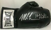 Mike Tyson & Evander Holyfield Signed Right Black Boxing Glove JSA Tyson Holo S