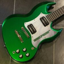 Warmoth Diamondback 2015 Candy Green SG Creamery p/ups rosewood ebony neck