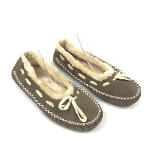 Staheekum Brand Faux Fur Moccasin Slip On Slipper With Rubber Sole 8 US