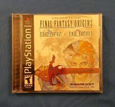 Final Fantasy Origins (Sony PlayStation 1, 2003) PS1 Complete, Black Label