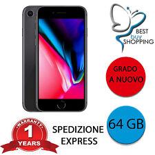 IPHONE 8 RIGENERATO A NUOVO 64 GB NERO ORIGINALE APPLE + GARANZIA RICONDIZIONATO