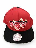 Mitchell & Ness Miami Heat Cap Hat Men One Size Snap Back Hardwood Classics Red