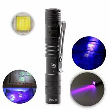 High Power LED Lumens Mini Portable Purple Light Flashlight Torch UV Flsah Light
