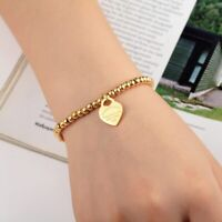 Return To NY Forever Love Herz Armband Armreif Doppel Herz Gold Blau Blogger