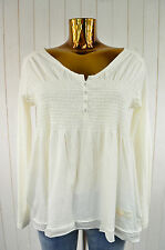 ODD MOLLY Damen Shirt Ecru My Pleasure Top Light Chalk Gerafft Gr.1/36 Neu!