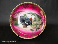 Antique STW / Royal Vienna Porcelain and Gilt Turkey Painted Plate / Platter