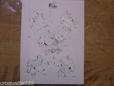 1949 Gravure ancienne MODE BLOUSES LINGERIE CROQUIS COUTURE 3130/34 Demonne