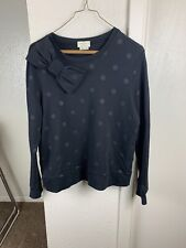 Kate Spade Black Polka Dot Sweater With Bow Size S
