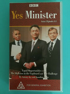 Yes Minister VHS Video Tape BBC Series 3 Episodes 1-3 VGC