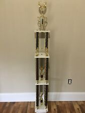 New listing Beautiful Boxing Trophy 4 Post 3 Tier Huge Over 5 ft. Tall Man Cave Den, Nice