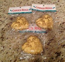 Garden Ridge Cherub Angel Heart Ornaments - Set of 3