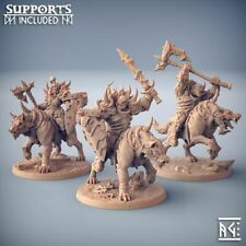 ORC RIDERS-Orruk Warclans Age of  Sigmar AoS Warhammer Dungeons Dragons D&D RPG