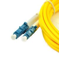 2Pcs Cables 9/125 LC/PC to LC/PC 3M Fiber Patch Cord Jumper Duplex Singlemode