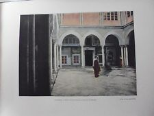 TUNISIE:Gravure 19°in folio couleur/ Patio:Cour intérieure du Palais Dar Hassen