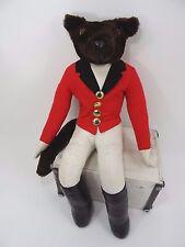 """Vintage Hanford Fox Riding Plush Doll Equestrian Hunting 20"""""""