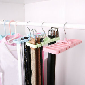 Closet Storage Rack Tie Belt Scarf Organizer Space Saver Rotating Hanger Hold.BI