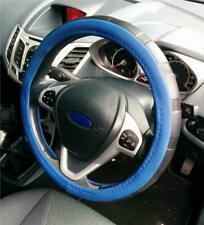 Steering Wheel Cover Blue / Black Soft Leather Look Easy Fit For Volvo