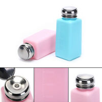 Empty Pump Dispenser Bottle Container Cleaner Nail Polish Remover 250mL .kn