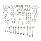 66x Hot Stainless Steel Tongue Nipple Bar Ring Barbell Body Piercing Jewelry New