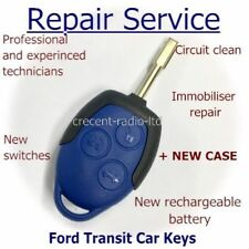 Ford Transit Connect MK7 3 Button Remote Key Fob Repair Blue SERVICE