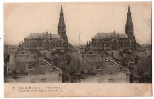 CPA Stéréoscopique 59 - VALENCIENNES (Nord) - 1. Notre-Dame de Saint-Cordon - LL