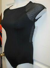 CAPEZIO 11503W ladies Extra large mesh cap sleeve leotard black