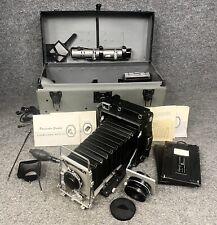 Pacemaker 4x5 Speed Graphic Camera W/Rodenstock Sironar & Graflex Lenses +Extras