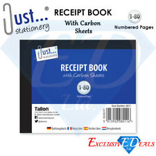 Receipt Duplicate Book Numbered 1-80 Pages With Carbon Sheets Paper Reciept (D3)
