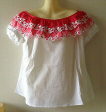 $140 NWT Tyler Boe Pink & White Embroidered Tunic Top Sz S ~ Perfect for Summer!