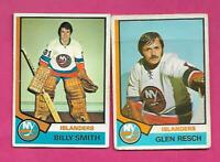 1974-75 OPC ISLANDERS GLENN RESCH RC + BILLY SMITH 2ND YEAR  CARD (INV# D1639)