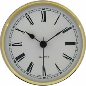 New Quartz Clock Insertion Movement 85mm Diameter Roman Numerals - CM537
