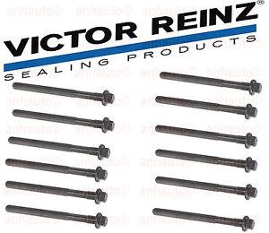 Set 12 Cylinder Head Bolts Volvo 850 960 C70 S40 V40 S60 V70 S80  XC REINZ