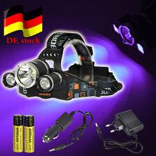 PRO Jagd BORUiT 395nm UV/weiß 3xXM-L T6 LED Stirnlampe 10000LM Kopflampe Fackel