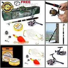 Fishing Rod Case Spinning Reel Combo Tackle Lure Tip Reel Combos Storage Kit Set