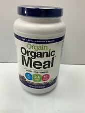 Orgain Organic Meal Plant Based Powder Creamy Chocolate Fudge, 2.01 Pound