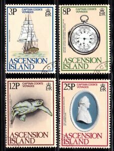 ASCENSION #235-238 USED CAPT. COOK'S VOYAGES (RESOLUTION COOK'S SHIP)