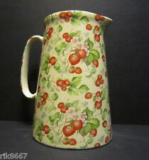 Heron Cross Pottery Strawberry Cream 4 Pint English Milk Jug very big (vase)