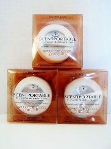 Bath Body Works Slatkin Scentportable Clip & Go Sweet Cinnamon Pumpkin, NEW x  3
