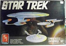 STAR TREK 3 SHIP U.S.S. ENTERPRISE SET model kit. ERTL 1988