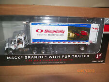 SIMPLICITY MOW. MACK GRANITE  w PUP 1/64 First Gear 1st