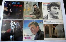 VINCE HILL Lot Of 8 LP's... Lot # 8027 traditional English Pop singer producer
